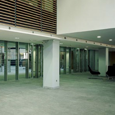 Circular Sliding Doors by Open Entrances