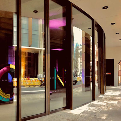 Automatic Curved Sliding Doors - One Poultry Lane