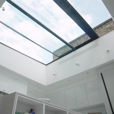 Lift and Sliding Glass Roof - Fournier Street
