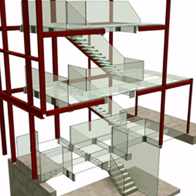 Architectural Glass Staircase - Glass Stair Case