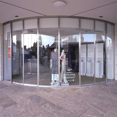 Linear Sliding Doors by Open Entrances