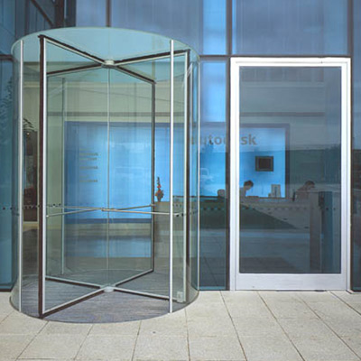 Revolving doors - Farnborough Business Park, Hampshire