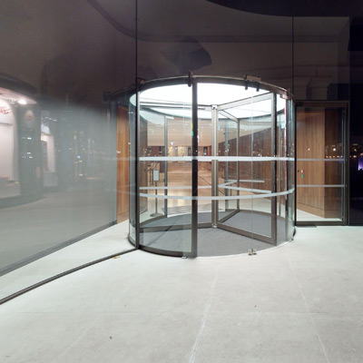Royal Opera House Stanton Williams Revolving Doors and Glass Entrance matterport 3d view
